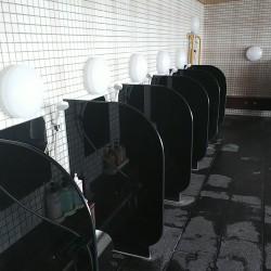 【納入事例】■プロジェクト名/静岡県 温浴施設■シリーズ名/パリトーンPSシリーズ ブラック■用途/隔て石(板)